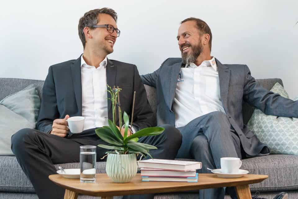 Freuen sich über die Auszeichnung als 'Top-Arbeitgeber Mittelstand 2018': viterma-Geschäftsführer Marco und Herbert Fitz.