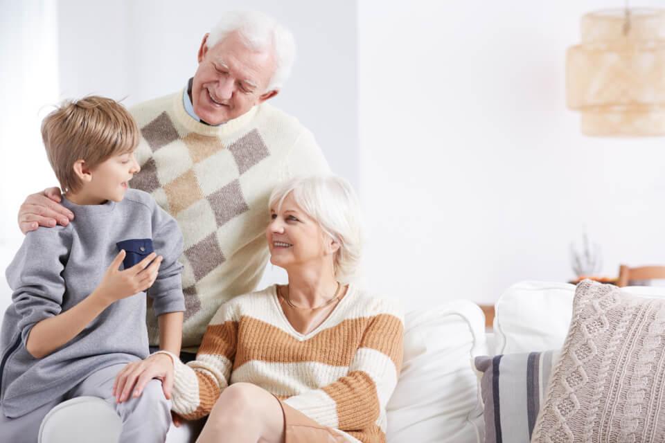 Familie mit Enkel